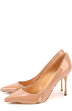 Лаковые туфли Godiva на шпильке Sergio Rossi. Цвет: бежевый