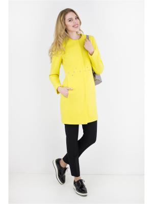 Пальто Elema. Цвет: желтый