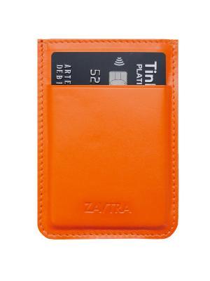 Минималистичный кошелек ZAVTRA. Цвет: оранжевый