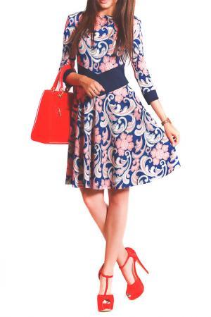 Платье FRANCESCA LUCINI. Цвет: расписной