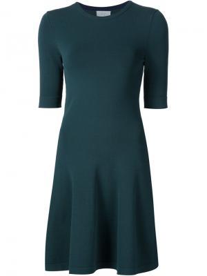 Трикотажное расклешенное платье Grey Jason Wu. Цвет: зелёный