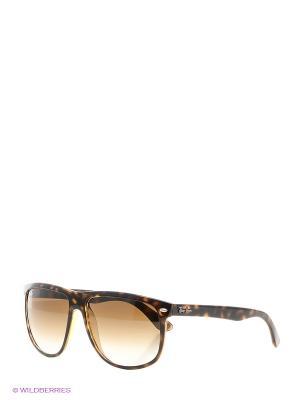 Очки солнцезащитные Ray Ban. Цвет: коричневый