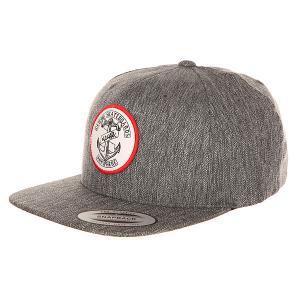 Бейсболка с прямым козырьком  Melange Cap Black Cliche. Цвет: серый