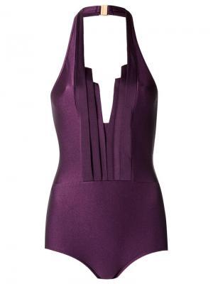 Halter neck swimsuit Adriana Degreas. Цвет: розовый и фиолетовый