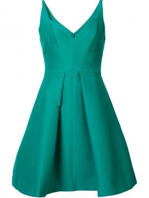 Платье с вырезом-сердце Halston Heritage. Цвет: зелёный