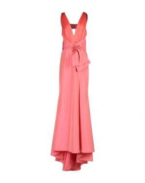 Длинное платье ZUHAIR MURAD. Цвет: коралловый