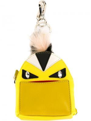 Брелок Bag Bug Fendi. Цвет: жёлтый и оранжевый