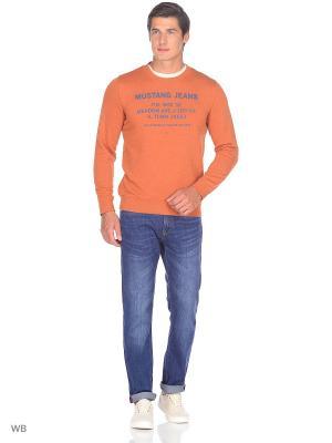 Свитшот MUSTANG. Цвет: оранжевый