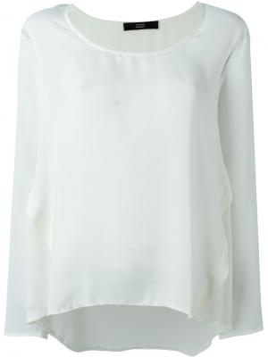 Блузка с панельным дизайном Steffen Schraut. Цвет: белый