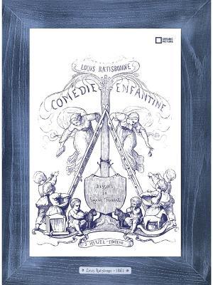 Картина-сувенир Louis Ratisbonne Comedie Enfatine Ceramic Picture. Цвет: бежевый