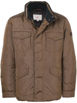 Пуховик с накладными карманами Peuterey. Цвет: коричневый