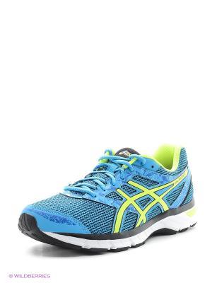 Спортивная обувь GEL-EXCITE 4 ASICS. Цвет: синий, желтый, черный