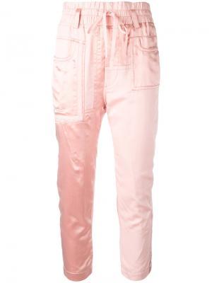 Укороченные брюки Baker Haider Ackermann. Цвет: розовый и фиолетовый