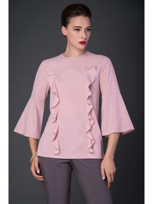 Блузка Арт-Деко. Цвет: розовый