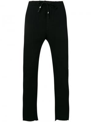 Зауженные брюки с эластичным поясом Manuel Marte. Цвет: чёрный