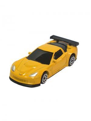 Машинка Chevrolet Corvette C6-R, Желтая (1:64) (PS-344005S-Y) Pit Stop. Цвет: желтый