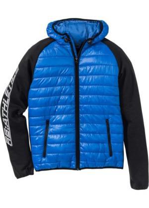 Функциональная спортивная куртка Regular Fit (лазурный/черный) bonprix. Цвет: лазурный/черный