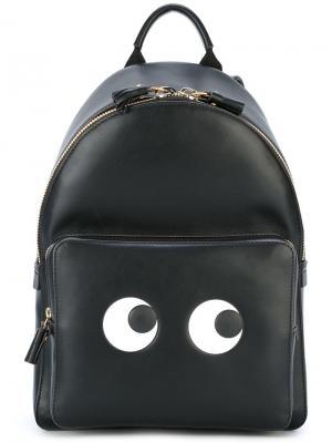 Рюкзак Mini Eyes Anya Hindmarch. Цвет: чёрный