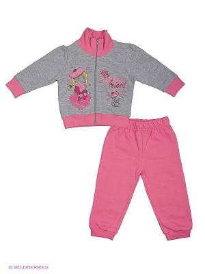 Комплект EWIVA. Цвет: серый меланж, розовый