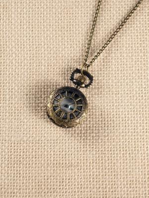 Кулон-часы Колесо фортуны Mitya Veselkov. Цвет: бронзовый