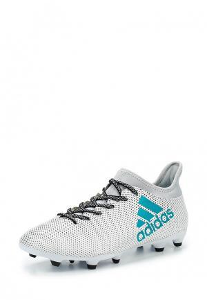 Бутсы adidas Performance. Цвет: белый