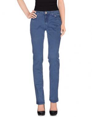 Повседневные брюки 9.2 BY CARLO CHIONNA. Цвет: синий