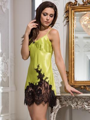 Ночная сорочка MIA-AMORE. Цвет: салатовый