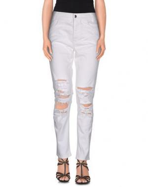 Джинсовые брюки ARIES. Цвет: белый