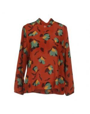 Блузка CALIBAN. Цвет: ржаво-коричневый