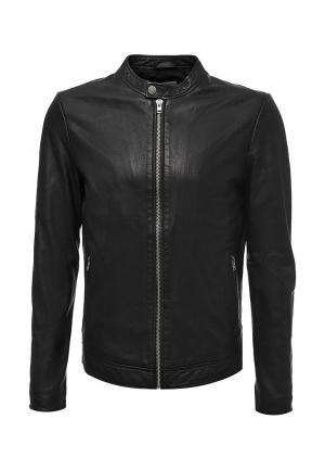Куртка кожаная Lindbergh. Цвет: черный