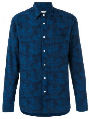 Рубашка с камуфляжным принтом Bellerose. Цвет: синий