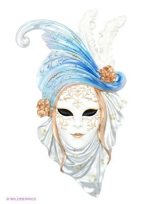 Венецианская маска Маки Veronese. Цвет: бронзовый, белый, серебристый, черный