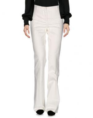 Повседневные брюки KILTIE. Цвет: белый