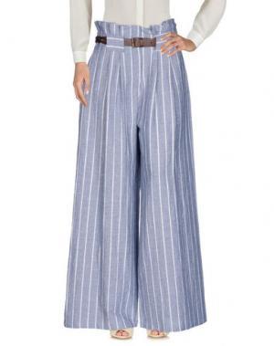 Повседневные брюки SOUVENIR. Цвет: небесно-голубой