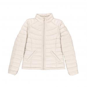 Куртка стеганая короткая с длинными рукавами и высоким воротником SUD EXPRESS. Цвет: экрю
