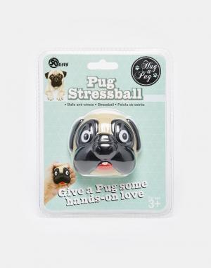 50FIFTY Мячик для снятия стресса в виде мопса. Цвет: мульти