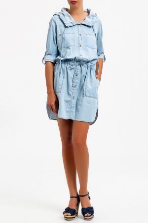 Платье DIBYE. Цвет: синий