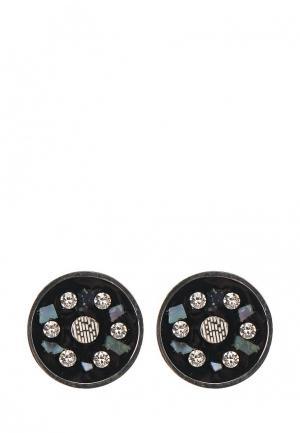 Комплект колье и серьги Art-Silver. Цвет: черный