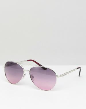 Carvela Солнцезащитные очки-авиаторы. Цвет: розовый