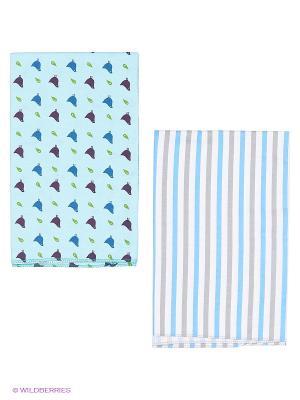 Пеленка, 2 шт HappyBabyDays. Цвет: голубой, синий
