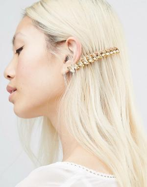 Krystal Гребень для волос с кристаллами Swarovski Marquise. Цвет: золотой
