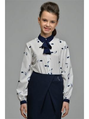 Блузки DESTY. Цвет: синий, молочный