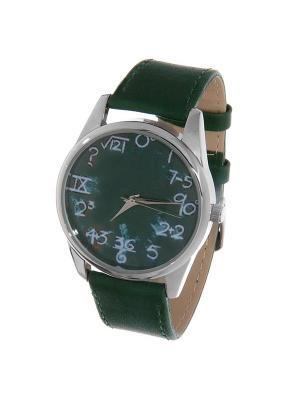 Часы Mitya Veselkov Школьная доска (зеленый) Арт. Color-1. Цвет: темно-зеленый