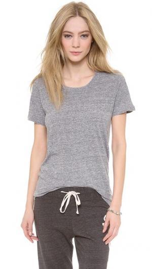 Объемная футболка Basic из джерси в винтажном стиле MONROW. Цвет: гранит