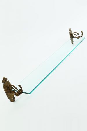 Полка для ванной комнаты Stilars. Цвет: коричневый