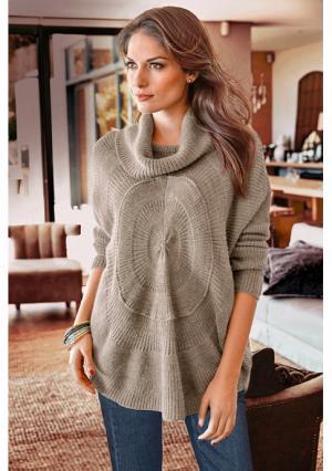 Пуловер VIVANCE. Цвет: бежевый