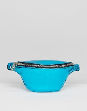 Skinnydip Голубая сумка-кошелек на пояс. Цвет: синий