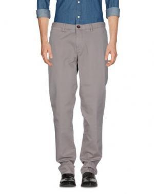Повседневные брюки WEB. Цвет: голубиный серый