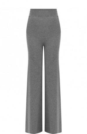 Шерстяные расклешенные брюки с завышенной талией Stella McCartney. Цвет: серый