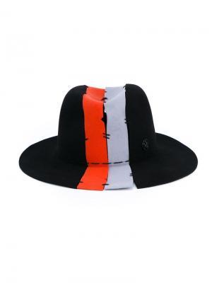 Шляпа Henrietta с вертикальными полосками Maison Michel. Цвет: чёрный